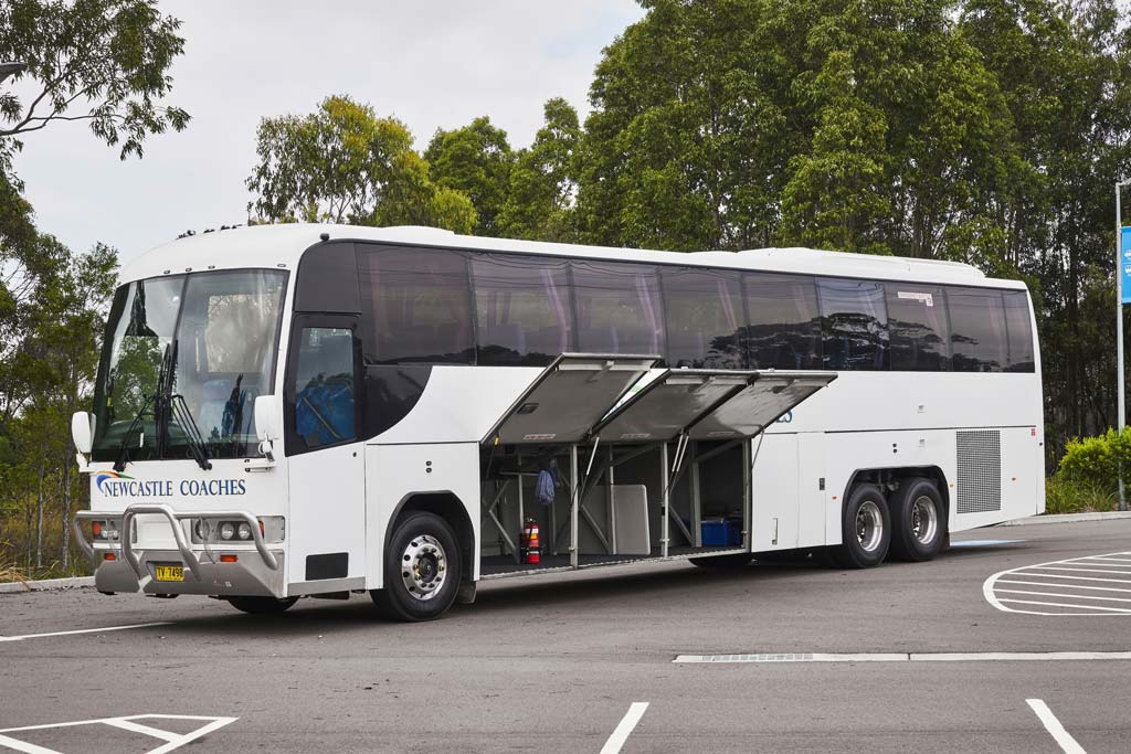 Step aboard a luxury coach for your tour